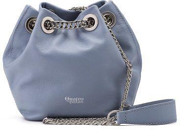 Bucket Bag Beatriz | Couro Napa Celeste