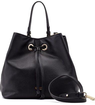 Bucket Bag Sophia | Couro Floater Black
