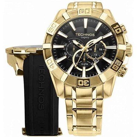Relógio Technos Classic Legacy Masculino OS2AAJAC/T4P Troca Pulseira