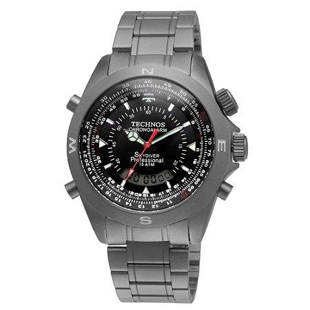 Relógio Technos Performance Skydiver Masculino T20563/1P Titanium