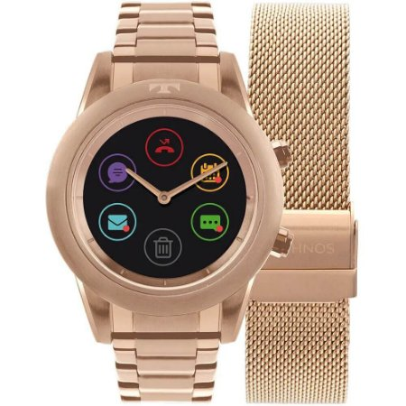 Relógio Smartwatch Technos Connect Duo Feminino P01AE/4P - Troca Pulseira