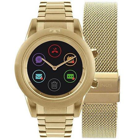 Relógio Smartwatch Technos Connect Duo Feminino P01AC/4P - Troca Pulseira
