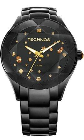 Relógio Feminino Technos Com Cristais Swarovski 2039AUDTM/1P