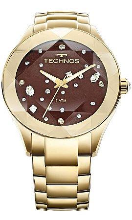 Relógio Feminino Technos Com Cristais Swarovski 2039ATDTM/4M