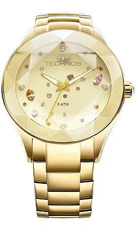 Relógio Feminino Technos Com Cristais Swarovski 2039ATDTM/4X