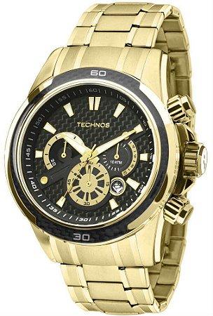 Relógio Technos Carbon Dourado  JS26AA/4P