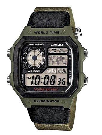 Relógio Casio Masculino Standard AE-1200WHB-3BVDF