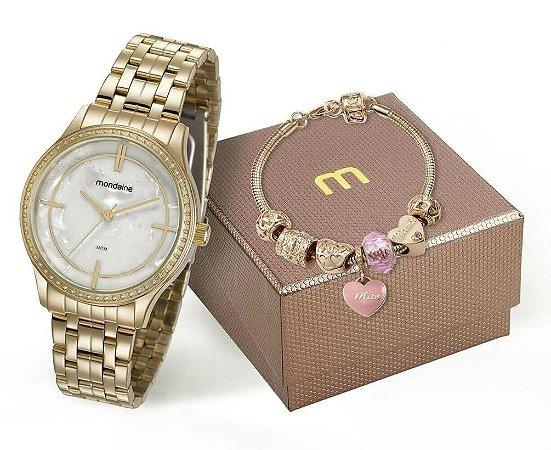 Relógio Mondaine Feminino 99278LPMKDE3K1 + Pulseira