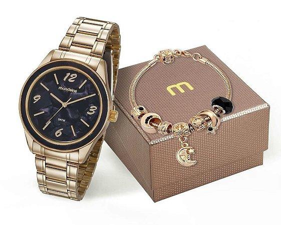 Relógio Mondaine Feminino 99277LPMKDE2K1 + Pulseira