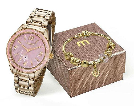 Relógio Mondaine Feminino 99277LPMKDE1K1 + Pulseira