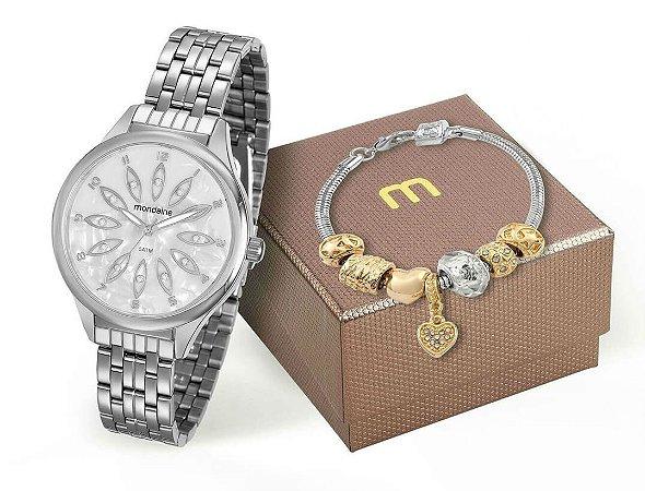 Relógio Mondaine Feminino 99166L0MVNE1K2 + Pulseira