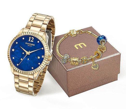 Relógio Mondaine Feminino 99129LPMKDE3K2 + Pulseira