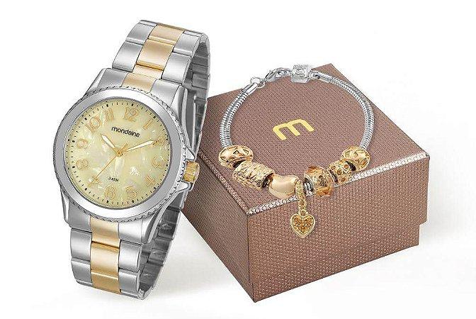 Relógio Mondaine Feminino 99270LPMKBE2K1 + Pulseira