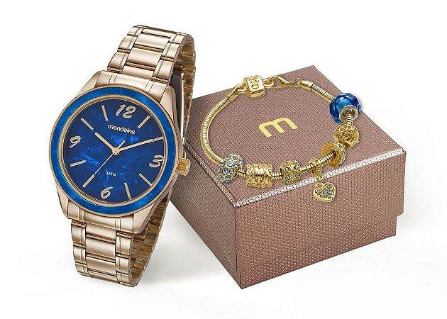 Relógio Mondaine Feminino 99277LPMKDE3K1 + Pulseira