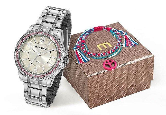 Relógio Mondaine Feminino 53601L0MVNE2KZ + Pulseira