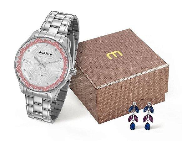 Relógio Mondaine Feminino 99249L0MVNE2KZ + brincos