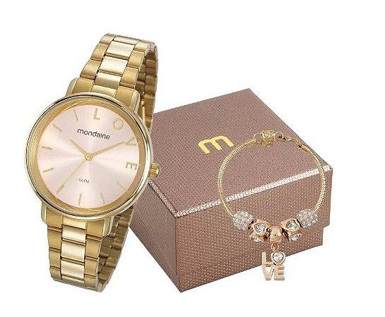 Relógio Mondaine Feminino 53761LPMKDE1K1 com pulseira