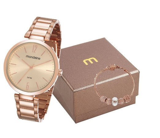 Relógio Mondaine Feminino 53719LPMGRE1K1 com pulseira