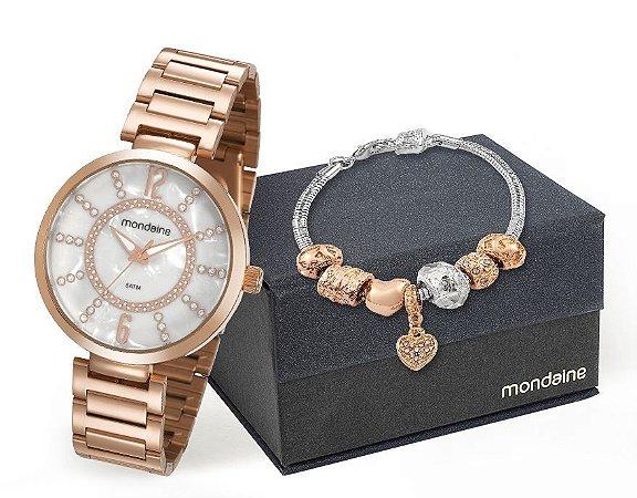 Relógio Mondaine Feminino 53617LPMKRE4K1 + pulseira