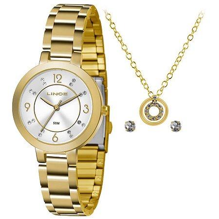 Relógio Lince Urban Feminino LRG4516L KU71S2KX + Colar e Brincos