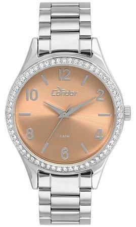 Relógio Condor Feminino CO2035KUX/K3T  + Colar e Brincos