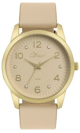Relógio Condor Feminino  CO2035KWE/K2T + colar e brincos
