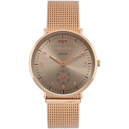 Relógio Technos Slim Rosê Feminino 1L45AY/4C