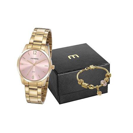 Kit Relógio Mondaine Feminino 99457LPMVDE1K1 com pulseira