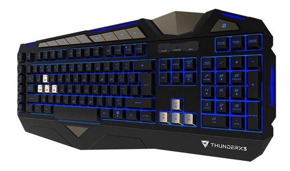TECLADO GAMER SEMIMECANICO USB RGB THUNDERX3 TK30