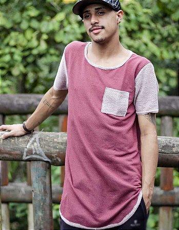 Camiseta Masculina Longline Oversized de Linha