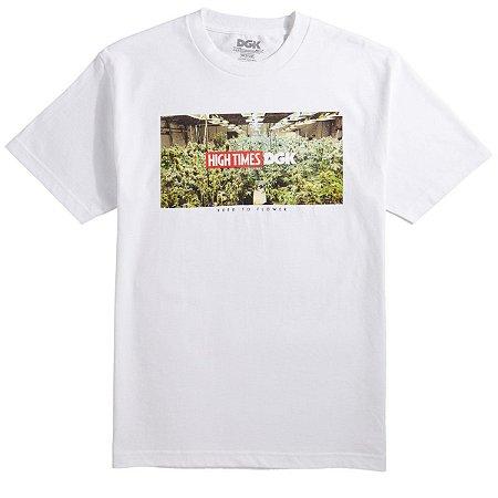 Camiseta DGK X High Times Grow Room - Branca - BZK - Store 4f0ce78703da4