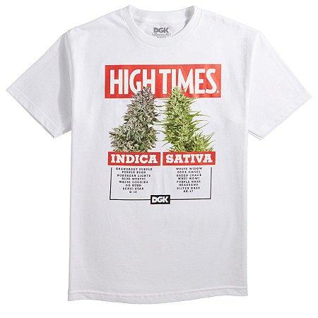 Camiseta DGK X Hightimes Options - Branca - BZK - Store 5221880fed297
