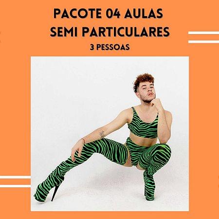 PACOTE 04 AULAS SEMI PARTICULARES - 03 PESSOAS