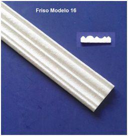 1 metro Rodameio ou Guarnição de Isopor Modelo 16 com 6,5cm 2peças 0,50cm Moldutec