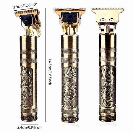 Maquininha Barbeador Aparador De Barba Cabelo Bigode T9 Pro