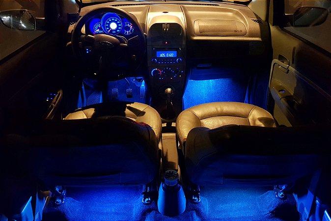 Kit 4 barras Led Iluminação interna RGB controle via APP