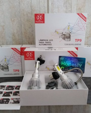 Kit Lampada Super Led Honesty Tp9 72w 6000k 8200l Super Branca
