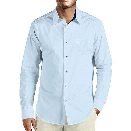 ccdd770a06 Camisa Social Masculina Lobo Branco Vip daywork azul e azul marinho