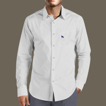 10ef26d85d Camisa Social Masculina Lobo Branco Vip daywork cinza light e azul marinho