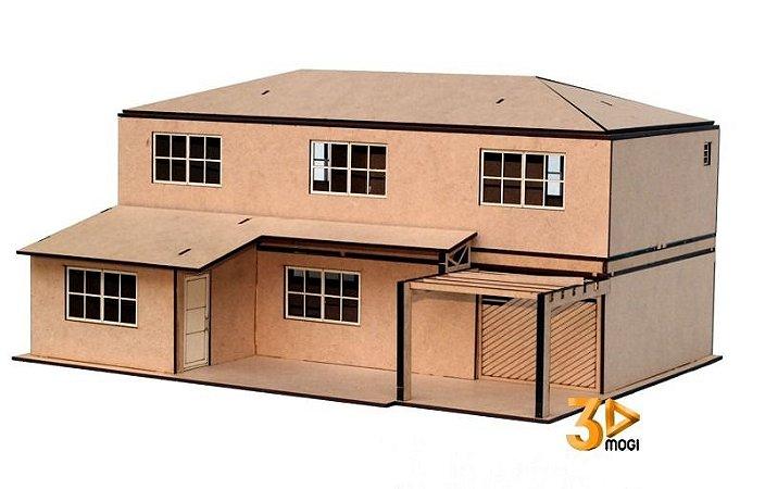 Maquete Casa Sobrado escala 125 - Modelo Praia
