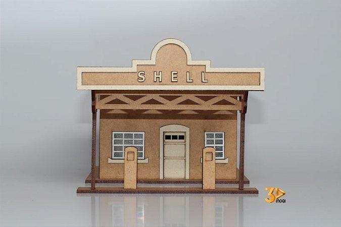 Maquete Posto De Gasolina Shell 1:43