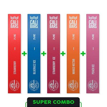 Combo 5 Pods Calibars sabores variados