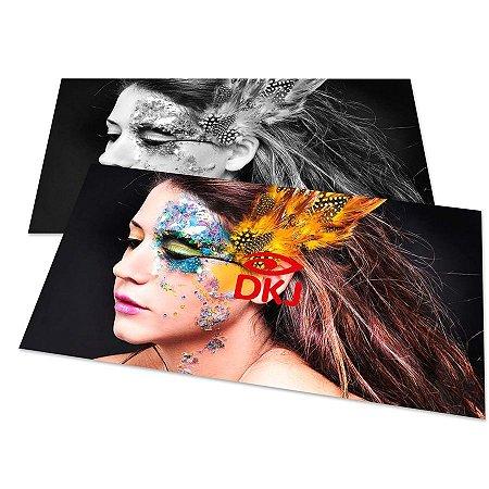 Cartão de visita 4x1 cores em papel cartão 250 g/m² com verniz UV total corte reto