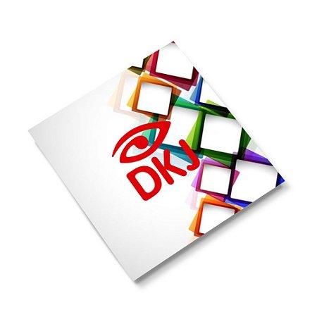 Mini Cartão de visita 4x0 cores em papel cartão 250 g/m² com verniz UV total corte reto