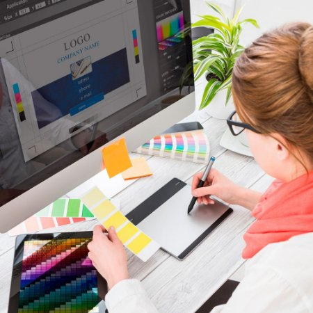Serviço de desenvolvimento de arte / arquivo para utilização impressa ou digital