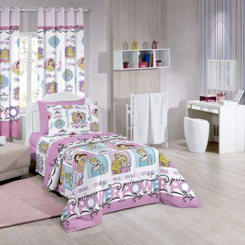 Lençol jogo infantil Santista Disney Princess Power