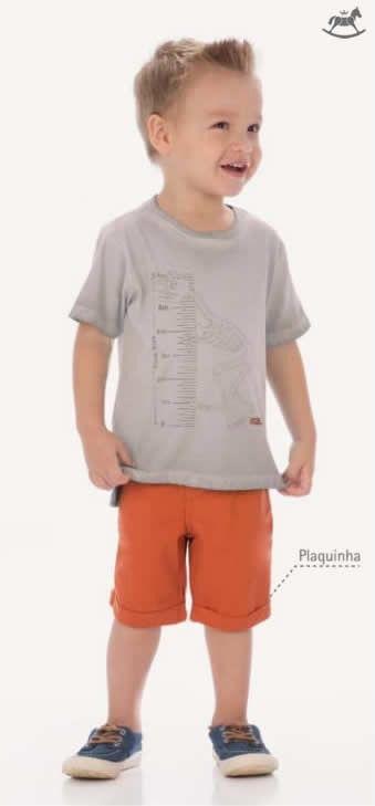 Conjunto Camisa de Dinossauro e Bermuda - Kid Camaleão Infantil 6e720ca5f055e