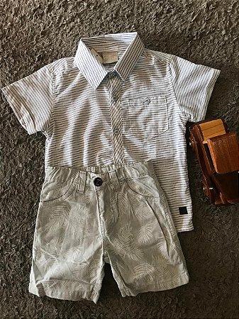 Conjunto Masculino - Blusa Social e Bermuda de tecido - Kid Camaleão ... 39994c249ecf6