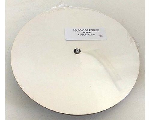 Relógio de parede Branco para sublimação - MDF