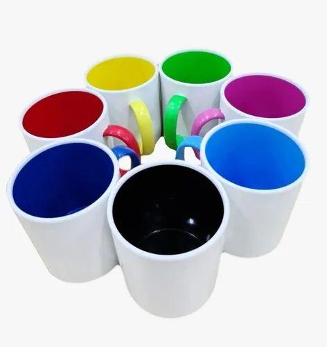 Caneca de polimero / plastico pra sublimação - Interior e alca Colorida